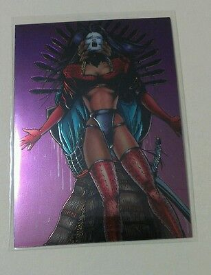 SHI ATTACKED #35 ALL CHROMIUM CHROME FOIL 1995 COMIC IMAGES TRADING CARD SET