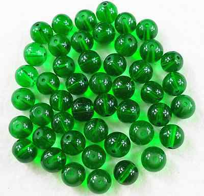 100Pcs 6mm Green Czech Crystal Glass Round Spacer Loose Beads W 13