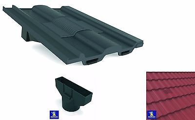 Redland Renown Roof Tile Vent Ventilator & Flexi Pipe Adaptor Colour Choice