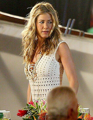 """Summer Crochet Dress as seen on Jennifer Aniston """"Just Go With It"""" movie, size M"""