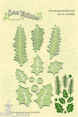 Lea'bilities Die Cutting Embossing Stencil Holly Leaves Pine Branches 45.9920