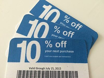 (5) five Lowes 10% off - To Use @ Home Depot & Competitors ONLY exp 7/15