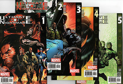 ULTIMATE NIGHTMARE # 1 2 3 4 5 - Full Set 1-5 FN/VF Marvel Comics - First Prints