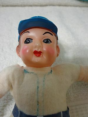 Antique Celluloid and cloth baseball player doll made in Japan