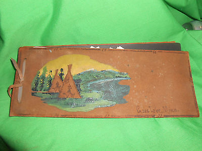 Vintage Hand-Made Leather Photo Album with Photos CASS LAKE, MINN
