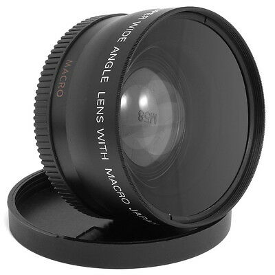 58MM .45X Wide Angle & Macro Lens for Canon T5i T4i T3i T3 T2i SL1 18-55MM