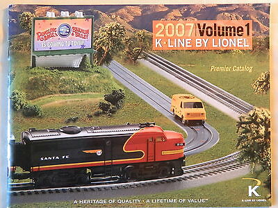 Lionel 2007 K-Line By Lionel Volume 1 Premier Catalog Ships Free in US