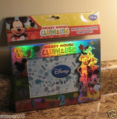 """Disney MICKEY MOUSE CLUBHOUSE Picture Photo Frame Fits  4""""x6"""" Photo NEW"""