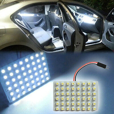2pcs Xenon White 48SMD LED Panel Lamp For Car Map Dome Door Trunk Lights 03XHR