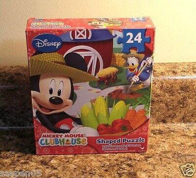 Disney MICKEY MOUSE CLUBHOUSE 24 Piece Puzzle FARM  NEW
