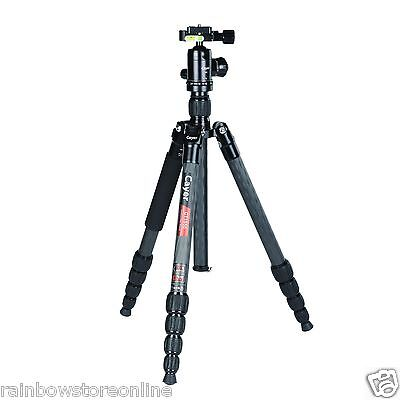 Cayer CT1550X1 Carbon Fiber Travel Angel Tripod kits with Ball Head as Benro