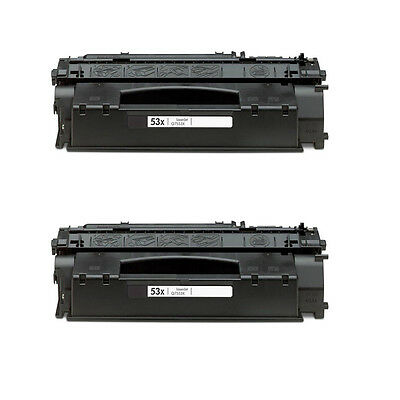 2 PK 53X Q7553X Toner Cartridge For HP LaserJet P2015 P2015x M2727nfs MFP P2015d