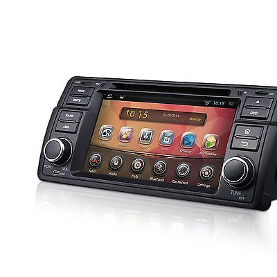 "LATEST ANDROID OS 7"" HD CAR STEREO DVD GPS IPOD/USB/SD/MP3 O4 FOR BMW E46 98-05"