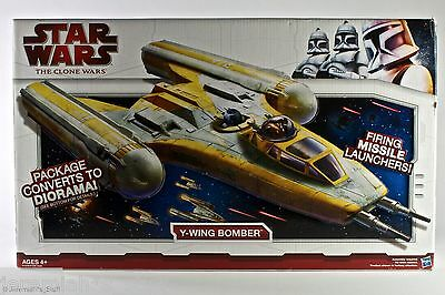 Hasbro Star Wars The Clone Wars Y-Wing Bomber Combat Vessel - NEW/SEALED MISB
