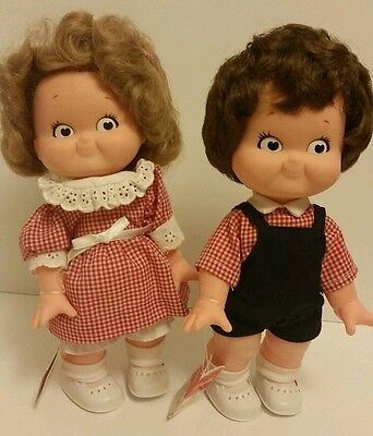 1988 Campbell Soup Company Kids Dolls  - Boy & Girl in Original Clothing - 10 In