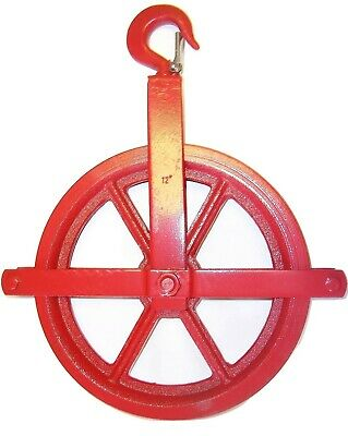 "12"" Gin Block Manila Rope Pulley, Painter's Pulley"