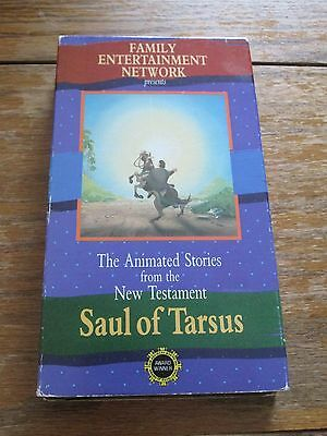 """VHS NEST Animated Stories from the Bible """"Saul Of Tarsus""""   BIN $1.00"""