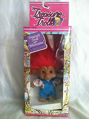 Vintage Collectible TREASURE TROLL With Wishstone New in Box (Lot 20) Ages 3+