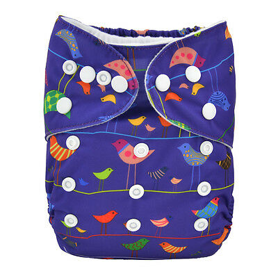 1 Birds Baby Cloth Diaper Reusable Washable Adjustable Pocket Cover