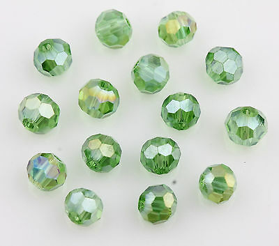 50Pcs Grass Green AB Colorful Czech Crystal Bead Spacer Craft Beads Findings 4mm