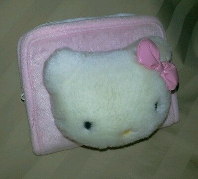 NWOT HELLO KITTY SANRIO Girls Pink Plush Coin Purse Mini Wallet Clutch New Small