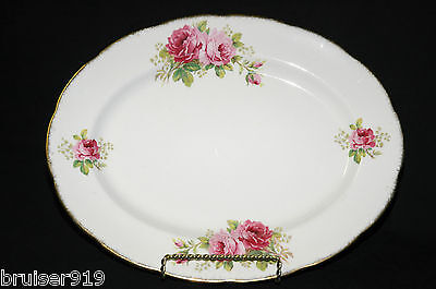 "AMERICAN BEAUTY Royal Albert England 13"" MEAT SERVING PLATTER Plate Dish Tray"