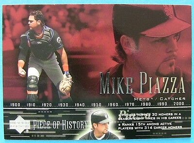 MIKE PIAZZA, 2002 UD  A PIECE OF HISTORY #79,   5 for 4