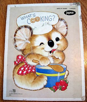 Vintage Jaymar Puzzle Preschool Mouse What's Cooking adorable! ages 3 to 5 kirby