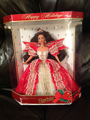 1997 Special Edition Happy Holidays Barbie 10th Anniversary ,Pre-owned