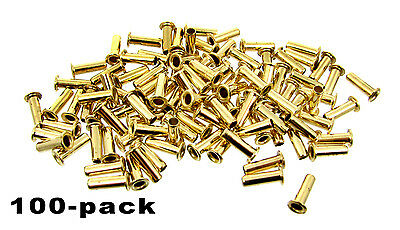 "100pc. ""Long Shaft"" Brass Eyelets - Cigar Box Guitar String Ferrules"
