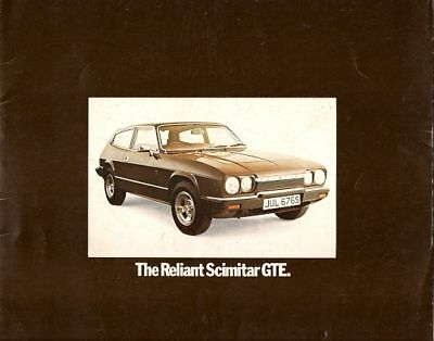 Reliant Scimitar GTE 1977-80 UK Market Sales Brochure