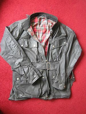 """mens Vintage TT Leathers black waxed motorcycle jacket 42"""" chest"""