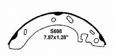 Wagner PAB698 RELINED Thermo Quiet Premium Rear Brake Shoe Set