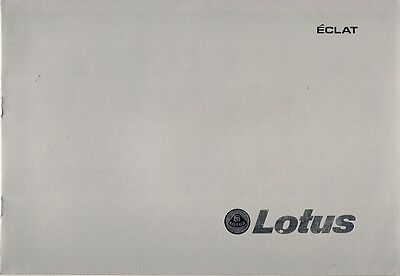 Lotus Eclat 1978-80 UK Market Sales Brochure 520 521 522 523
