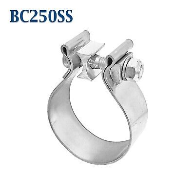 """2.5"""" 2 1/2"""" Genuine Torca AccuSeal Stainless Steel Band Exhaust Clamp AS250SS"""