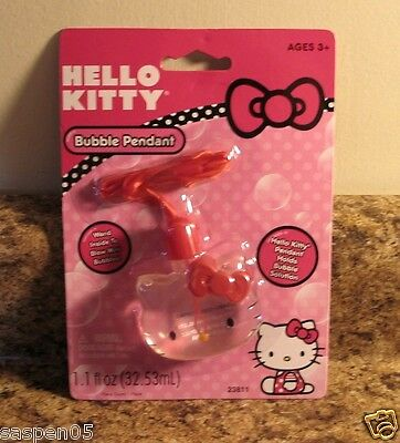 Hello Kitty Bubble Pendant With Wand for Mini Bubbles NEW