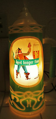Vintage Heileman's Old Style Beer lighted heat motion sign wall stein 1960s