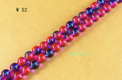 200Pcs 4mm Czech Lampwork Glass Pearl Round Spacer Loose Beads DIY Craft
