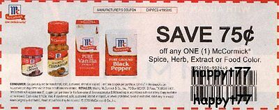 10 Coupons Save $0.75/1 on Any McCormick Spice Herb Extract or Food Color x 4/19