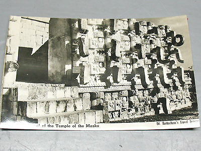 KABAH   RPPC   GLOSSY  THE  TEMPLE OF  THE  MASKS  UNCIRCULATED   EXLNT