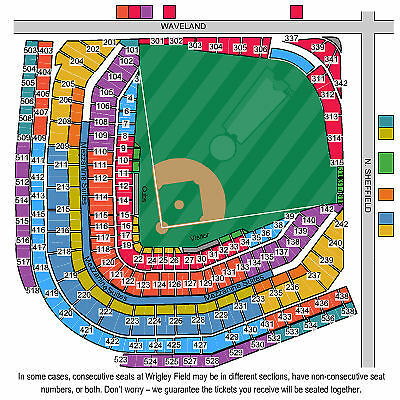 2 Chicago Cubs vs St.Louis Cardinals Tickets 04/05/15 Opening Day Night Outfield