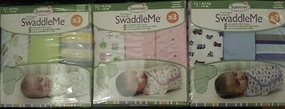 *NEW* Swaddle Me Infant Wrap Baby Swaddling Blanket Sleeping Bag Cotton 3 Pack
