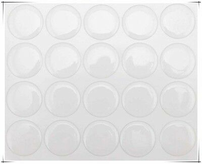 "100 pcs 1"" Round 3D Bottle Cap Stickers Crystal Clear Epoxy Adhesive Circles u"