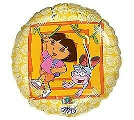 NEW Dora the Explorer and Boots Nickelodeon Balloon 18 Inch Round Foil Birthday