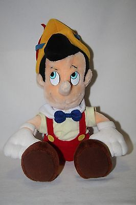 "Vintage Disney Pinocchio Plush Doll 12"" Authentic Korea"