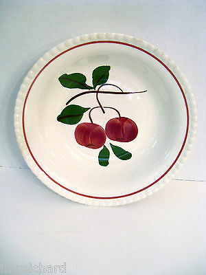 "Blue Ridge Southern Potteries Candlewick 2 Apple 9 1/4"" Round Vegetable Red Bowl"