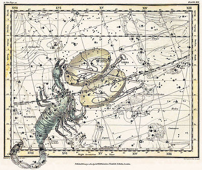 Astronomy Celestial Atlas Jamieson 1822 Plate-19 Art Paper or Canvas Print
