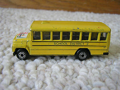 Vintage 1985 Matchbox Yellow School Bus Chef Boyardee