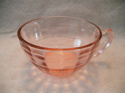 Anchor Hocking Pink Glass Block Optic Cup - Replacement Piece!