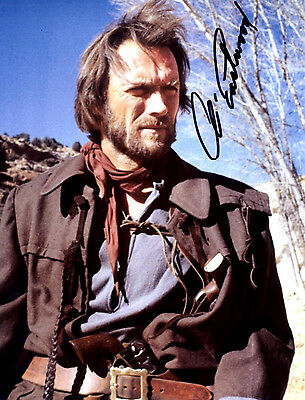 """Clint Eastwood 8x10 Signed Autograph Reprint """"Mint"""" {FREE SHIPPING} 09"""